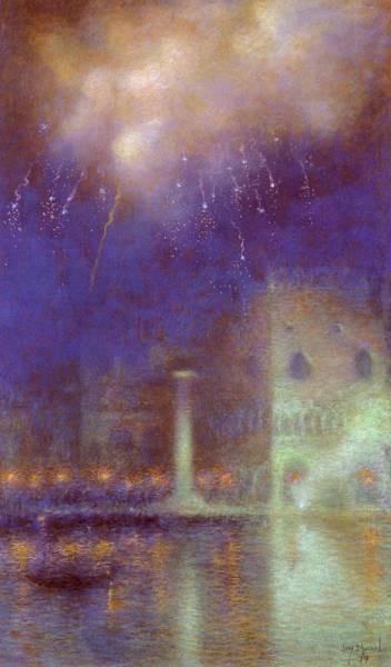 Feu D Artifice A Venise